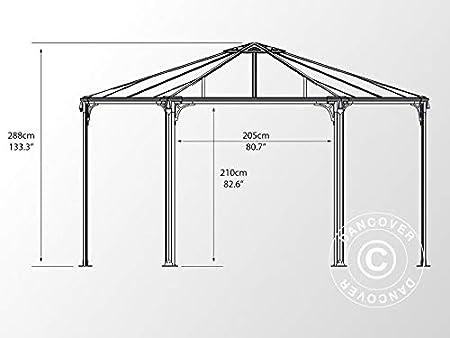 Dancover Cenador de jardín Monaco 4,5x4,5m: Amazon.es: Jardín