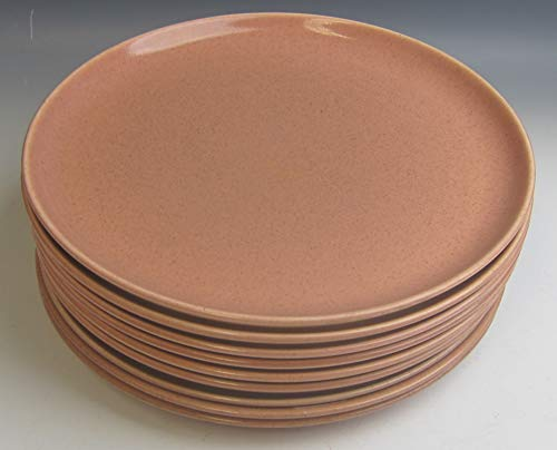 Lot of 9 Steubenville China AMERICAN MODERN - CORAL Dinner Plate(s) EXCELLENT