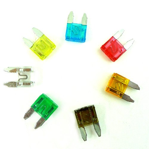 120pc Mini Blade Fuse Assortment Auto Car Motorcycle Truck SUV Replacement