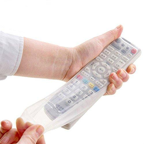 HSDDA Schützende Silikonhülle Schutz Aufbewahrungstasche TV Klimaanlage Fernbedienung (weiß)