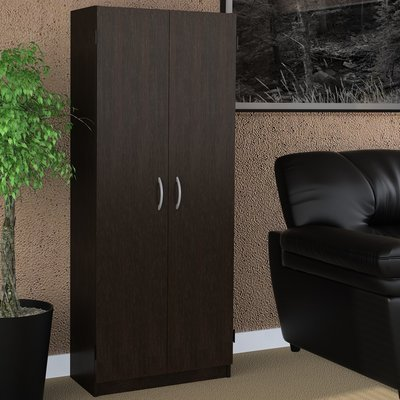 2 Door Storage Cabinet in Expresso Color Wood Material with Four Cabinets Inside by AVA Furniture
