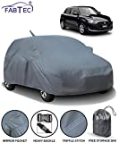Fabtec Car Body Cover for Maruti Swift (2018-2019) with Mirror Antenna Pocket & Storage Bag Combo (Heavy Duty)