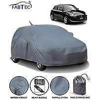 Fabtec Car Body Cover for Maruti Swift (2018-2019) with Mirror Antenna Pocket & Storage Bag Combo (Heavy Duty)