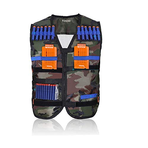 Yosoo Kids Tactical Vest for Eva Nerf Gun N-Strike Elite Series, Camouflage (Elite Tactical Vest)