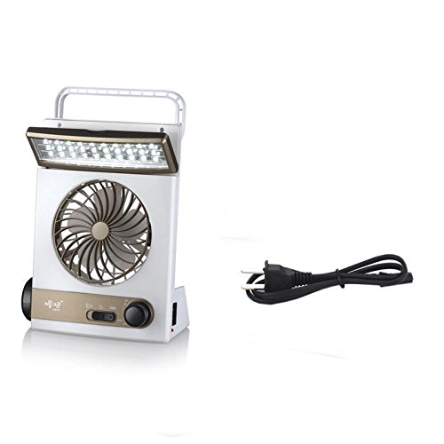 EDTara Speed Fan Solar 220V Electric Charging Fan 2000mAH Battery Rechargeable with LED light