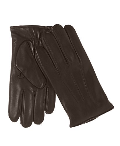 Fratelli Orsini Everyday Men's Italian Lambskin Cashmere Lined Winter Leather Gloves Size M Color Brown