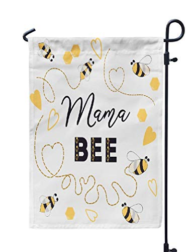 (Soopat Mother's Day Seasonal Flag, Baby Shower Invitation with Bee Bee Heart Cute Card Weatherproof Double Stitched Outdoor Decorative Flags for Garden Yard 12''L x 18''W Welcome Garden Flag)