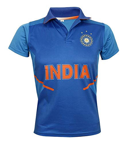 KD Cricket Jersey World Cup 2019 Supporter T-Shirt ODI Cricket Team Uniform India Australia South Africa England Pakistan Bangladesh(India,40) (T-shirts Cricket Team)