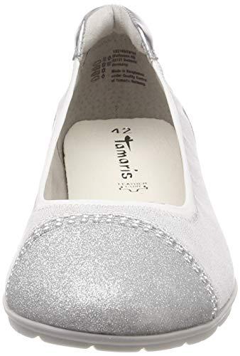 white 22 Femme 1 22109 1 197 Ballerines Comb Blanc 197 Tamaris x7FOgwqC