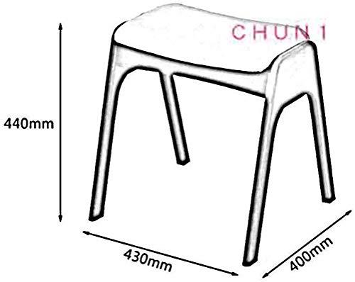 Klädpall, stapelbar massivt trä tvättbar makeuppall matbord pall 43 x 40 x 44 cm (L x B x H) 111 1020 (Storlek: Träfärg)