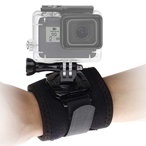 Correa de muñeca para cámara deportiva giratoria de 360 grados con cierre de hebilla y tornillo de pulgar compatible con...
