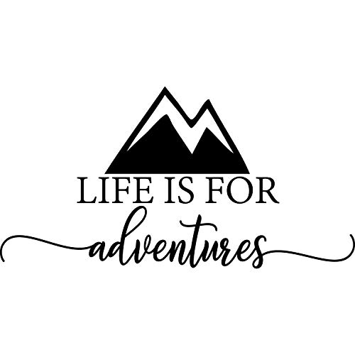 My Vinyl Story - Life is for Adventures - Wall Decal Quotes Motivational Decal Quote Words and Saying Sticker Sign Family Decor Removable Vinyl Travel Adventure Wander Living Room Home 22x12 Inches