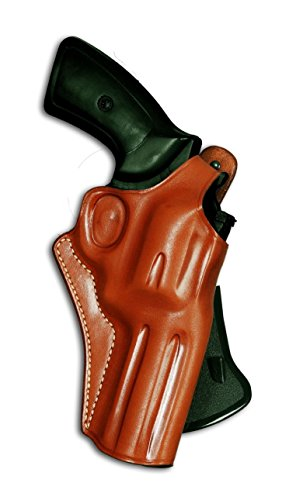 Premium Leather OWB Paddle Holster with Thumb Break Fits, Smith Wesson N-Frame Model 629/29 Classic Full Underlug Barrel 44 Magnum 5''BBL, Right Hand Draw Brown Color #1261#