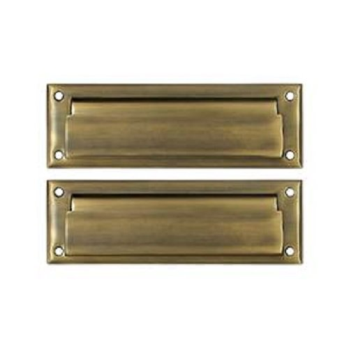 Deltana MS627U5 8 7/8-Inch Mail Slot with Solid Brass Back Plate