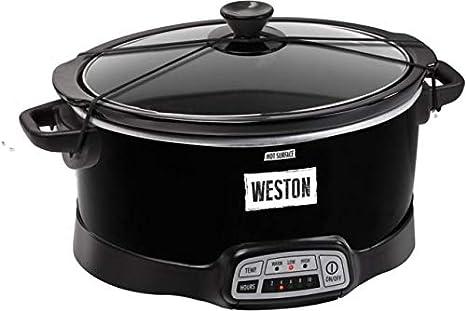 Weston 03-2300-W 7 qt Cocina Lenta programable con Correa de ...