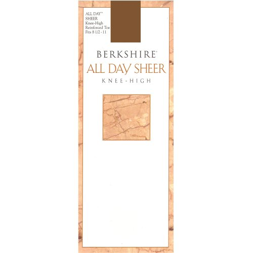 Berkshire Women's All Day Knee High Pantyhose with Reinforced Toe, Nude, 8 1/2 - 11