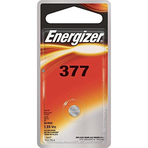 Energizer 377BPZ Miniature Battery f/Electronic Watch 1.55Volt Silver (Oxide Alkaline Silver)