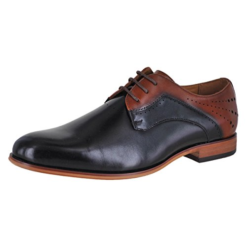 Stacy Adams Mens Savion Black-cognac