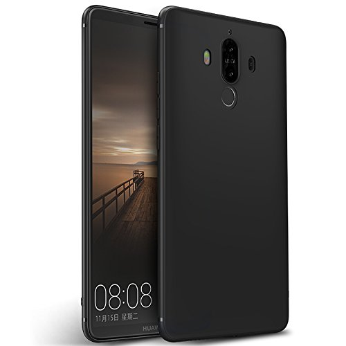 Olliwon Slim Case Compatible for Huawei Mate 9 Full Body Protection Lightweight Silicone Matte Cover TPU Black Case for Huawei Mate 9