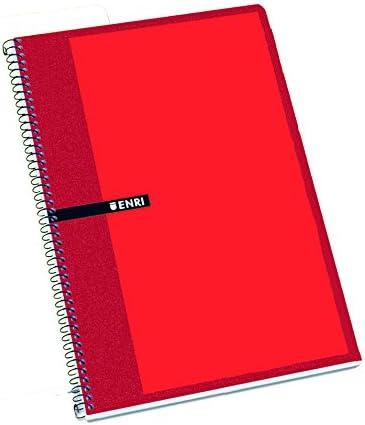 Enri 100430074 - Pack de 10 cuadernos espiral tapa dura, Fº ...