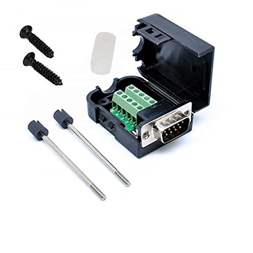 Connector DB9 RS232 D-SUB Male Adapter to Screw Connector 9 Pin Port to Terminal Connector Signal Module with Case (Male Connector DB9)