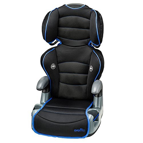 Big Kid High Back Booster Car Seat NEON BLUE