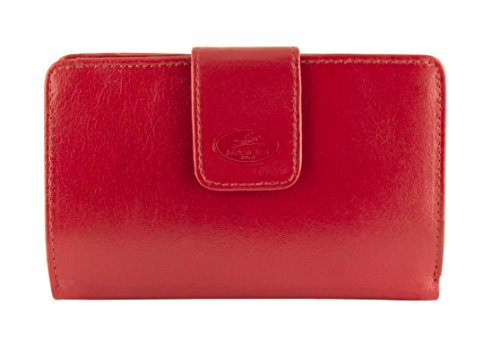Mancini Men's Clutch RFID Tanned Leather Secure Top Grain Vegetable Goods Red Wallet Leather Inc trpxSPrq
