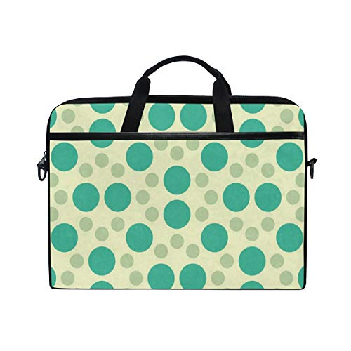 Geometry Dots 14 15inch Laptop Case Laptop Shoulder Bag Notebook Sleeve Handbag Computer Tablet Briefcase Carrying Case Cover with Shoulder Strap Handle for Men Women Travel/Business/School