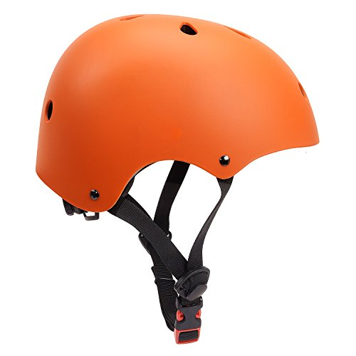 Cheap Glaf Adjustable Kids Helmet CPSC Certified Impact Resistance Ventilation for Multi-Sports, Cycling Skateboarding Bike BMX Scooter Toddler Helmet (Orange, Small)