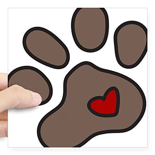 CafePress Puppy Paw Square Sticker 3