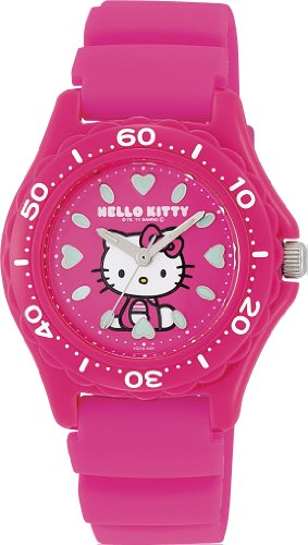 [Citizen Q and Q] CITIZEN Q&Q wrist watch Hello Kitty (Hello Kitty) Diver 10 atmospheres of analog display waterproofing Pink VQ75-430 Ladies