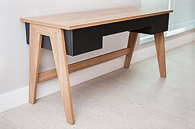 Trendline Home Office Desk - 3 Drawers Hanover/Black
