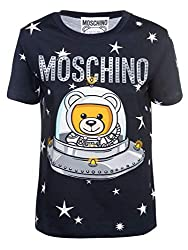 Moschino Women S V070554401555 Black Cotton T Shirt