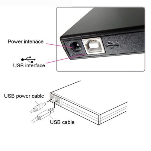 USB 2.0 External Slim CD-ROM Drive for Acer Aspire by Brainydeal (Image #6)