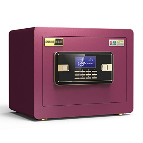 Small Invisible Password Office Safe Anti-Theft Mini Alarm Safe Deposit Box 25cm Bedside Cabinet Security Closet Cabinet Safes (Color : Purple, Size : 352525cm) ()
