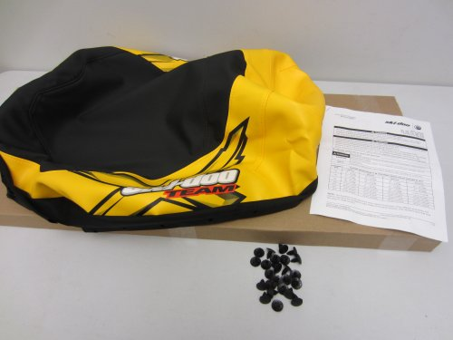 Factory Team Graphics (Ski-Doo OEM Factory Seat Cover Kit X Team Logo Graphics Black/Yellow REV-XP 510004879)
