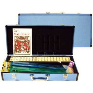 Western Mah Jong Game Set with Sky Blue Aluminum Case by CHH