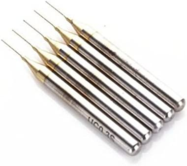 SHINA 5x Titanium Nitride Coated Carbide PCB Rotary Tool Jewelry CNC Drill Bits Router 0.3mm