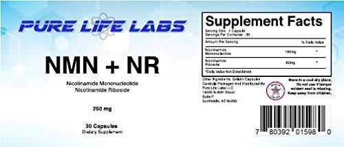 Amazon.com: 250 mg por cápsula NMN puro + Suplemento NR ...