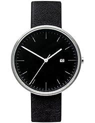 BIJOUONE B202 Minimalist Black Dial Stainless Steel Swiss Quartz Analog Calendar Mens Watch, Clean Simple Causal...