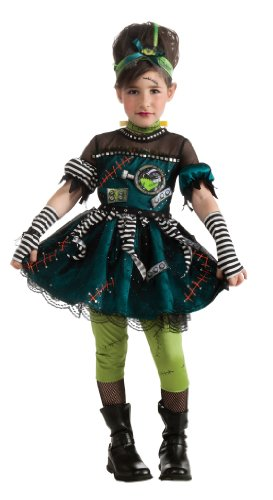 Girls Zombie Bride Halloween Costume (Frankie's Princess Costume, Small)