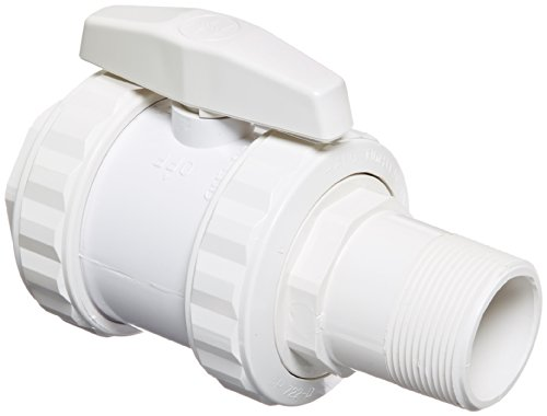 Hayward SP0723UN ABS Trimline 2-Way Union Ball Valve with 1-1/2-Inch MIP and 1-1/2-Inch FIP