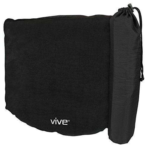 Inflatable Seat Cushion by Vive - Comfortable Blow Up Wheel Chair Air Pad for Travel, Stadiums, Airplanes, Boats and Cars - Easy to Inflate/Deflate and Transport - Inflatable Travel Seat Cushion