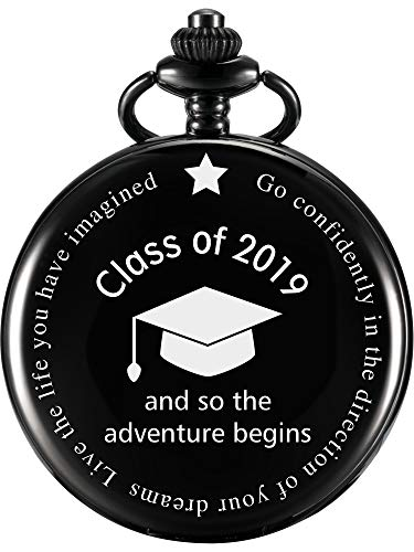 Pocket Watch So The Adventure Begins Engraved Bon Voyage Travel Retirement Farewell Party Gift Graduation Themed Party Supplies -