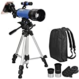 ZENSTYLE Portable 70mm Refractor Telescope for Kids Adults and Astronomy Beginners, Travel Scope