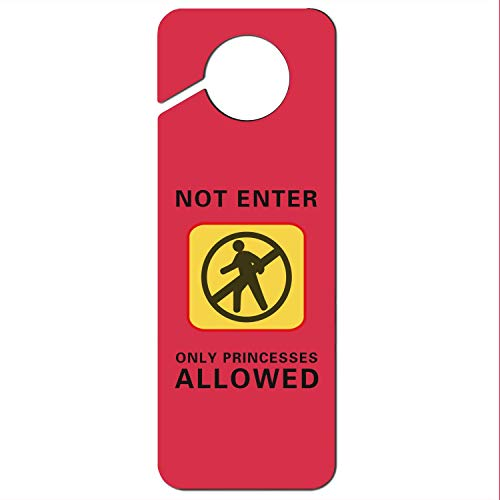 Crtsyins Inyin Not Enter Only Princesses Allowed-2 Plastic Door Knob Hanger - Door Hangers Princess Knob
