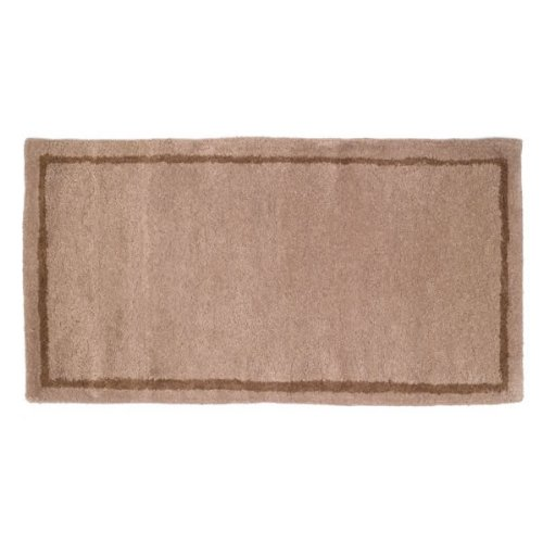 Woodfield Beige W/border Contemporary Rectangular Rug Wool 22 Inch X 44 Inch by Woodfield