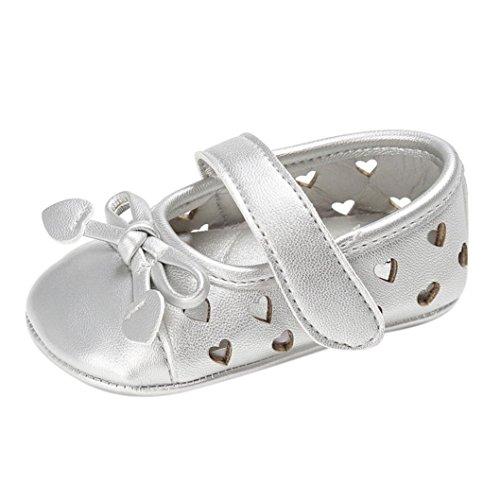 Hunpta Baby Säugling Kinder Mädchen Leder Kleinkind Neugeborene Schuhe Silber