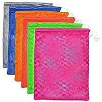 6 PCS Nylon Mesh Drawstring Storage Bag Equipment Bag Stuff Sack Golf Ball Bag,Assorted