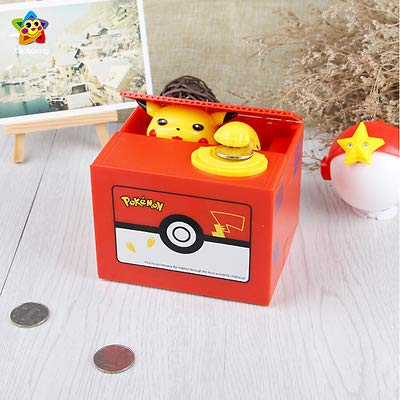 Interestingsport Creative Anmial Pikachu Automated Stealing Coin Bank Piggy Bank Money Banks for Kids(Limited Edition)
